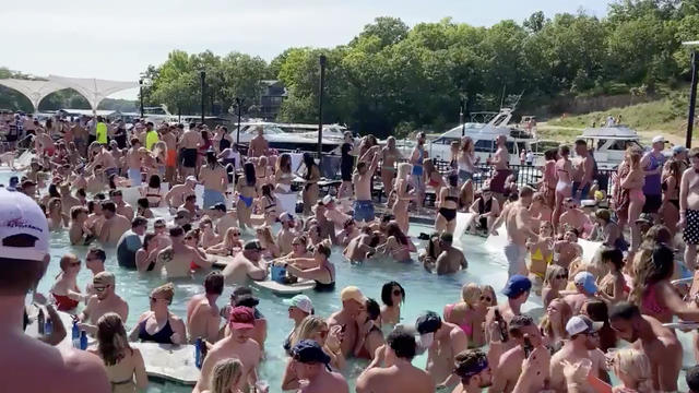 Revelers celebrate Memorial Day weekend at Osage Beach of the Lake of the Ozarks, Missouri