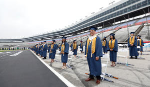 High school holds graduation at Texas Motor Speedway