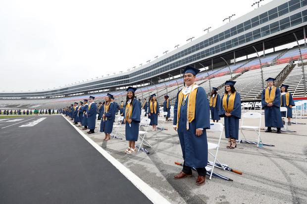 Little Elm High School graduates