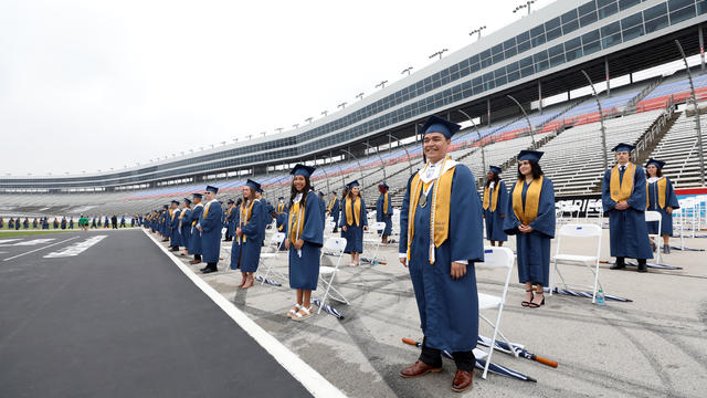 Graduation ceremonies at Texas Motor Speedway