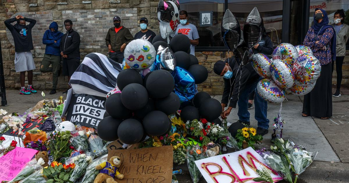 Protests continue at scene where George Floyd was...