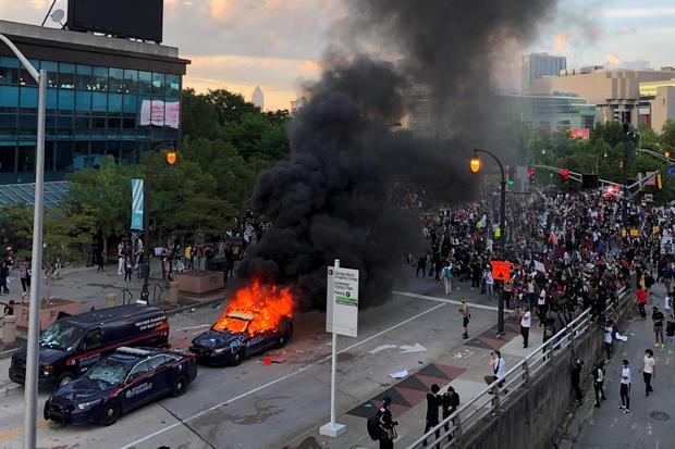 george floyd protest atlanta cnn center