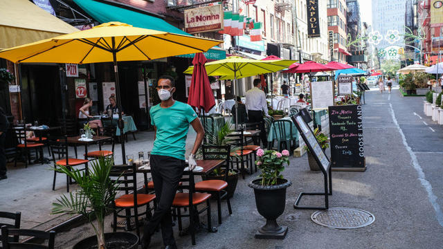 New York City Opens Up Streets To Outdoor Dining As COVID-19 Cases Ease
