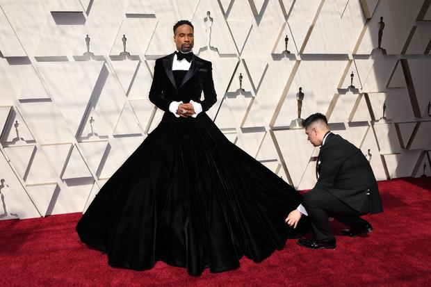 Billy Porter goes for a gown
