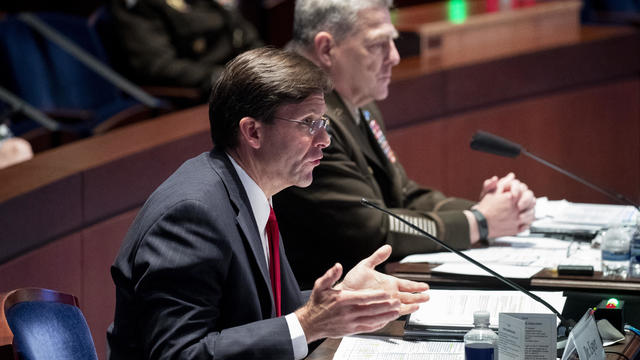 U.S. Defense Secretary Esper And Joint Chiefs Chairman Gen. Milley Testify Before House Armed Services Committee
