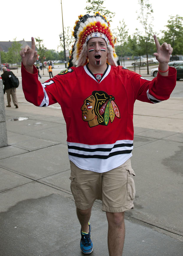 headdress ban Blackhawks