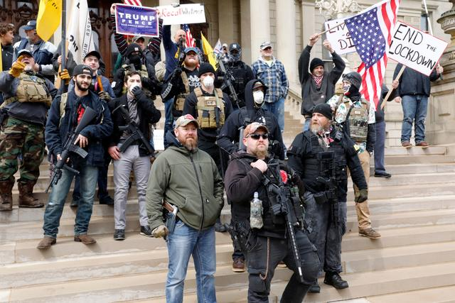 Michigan armed protest