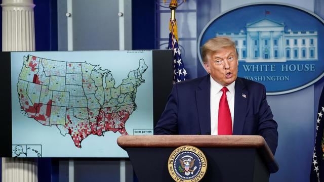 U.S. President Trump hosts coronavirus response task force briefing at the White House in Washington