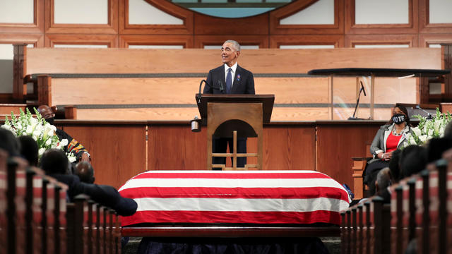 Funeral at Ebeneezer Baptist Church of U.S. Congressman John Lewis in Atlanta