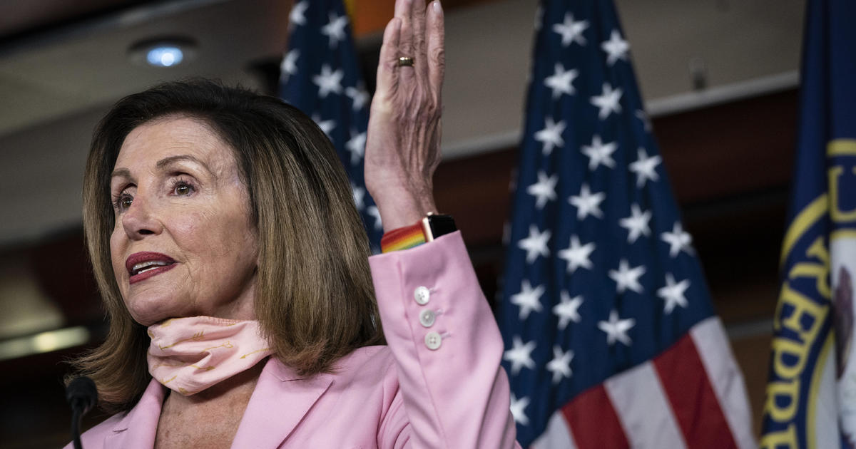 "Pelosi calls relief package discussions ""productive"" but no deal yet – CBS News"