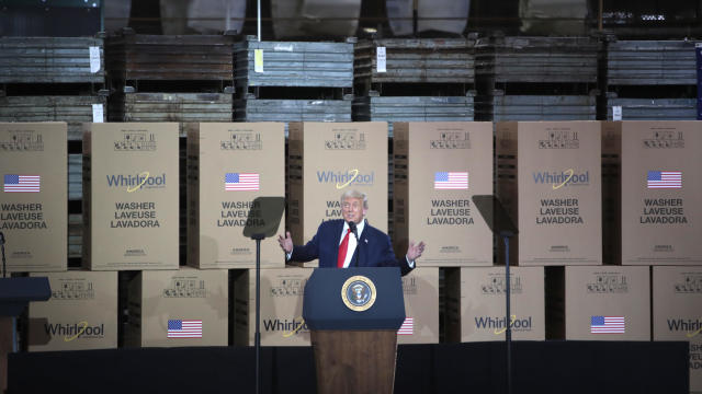 President Trump Speaks At Whirpool Factory In Ohio