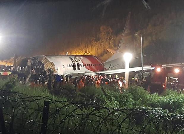 India Plane Crash Lands