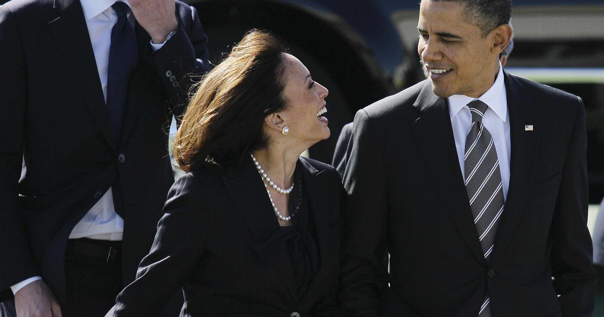 """Obama says Biden """"nailed"""" decision to pick Kamala Harris as VP thumbnail"""
