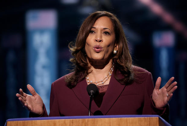 Vice Presidential Nominee Kamala Harris Addresses Virtual DNC From Delaware