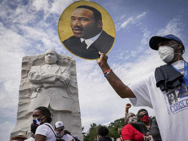 """57 years after Martin Luther King Jr.'s """"I Have A Dream"""" speech, thousands converge in D.C. for another March on Washington"""