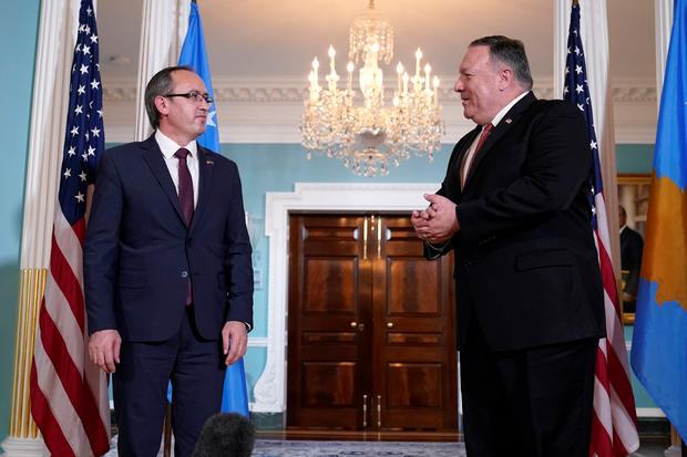 U.S. Secretary of State Pompeo meets Kosovo's Prime Minister Hoti in Washington