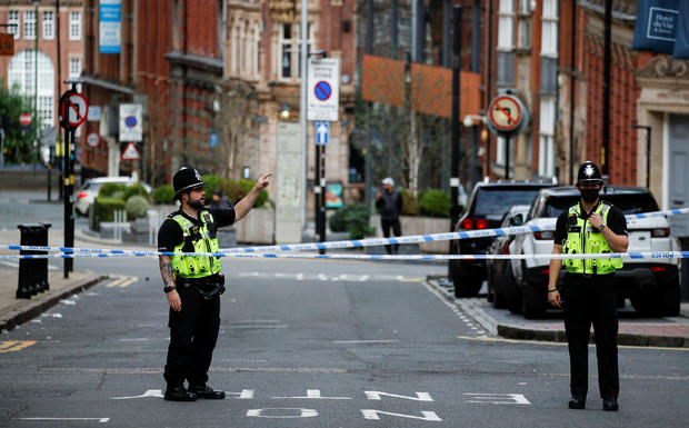 Scene of reported stabbings in Birmingham