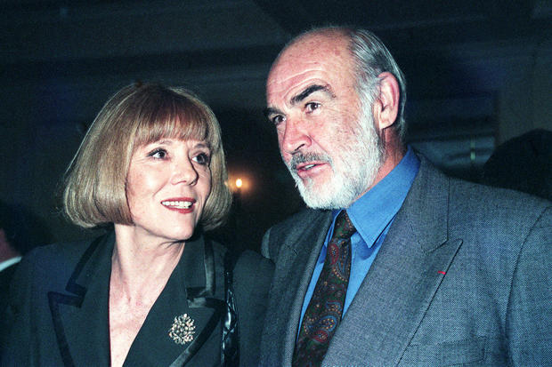 Sean Connery and Dame Diana Rigg