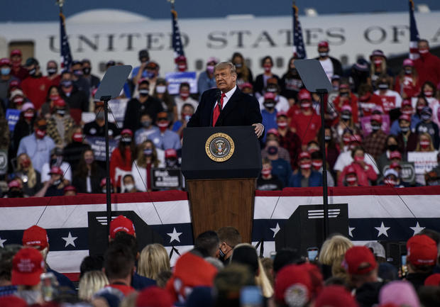 President Trump Holds Campaign Rally In Fayetteville, North Carolina