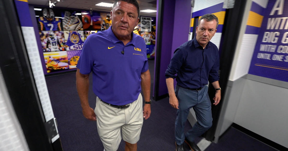 LSU Football Coach Ed Orgeron's journey from the bayou to defending a national championship in the time of COVID