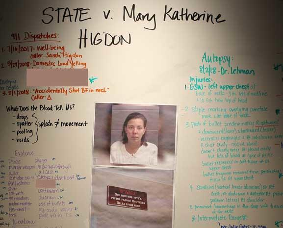 Evidence photos in the case against Mary Katherine Higdon