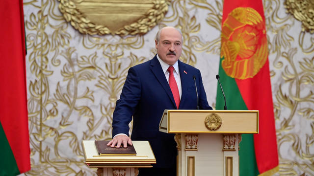 Belarusian President Lukashenko attends a swearing-in ceremony in Minsk