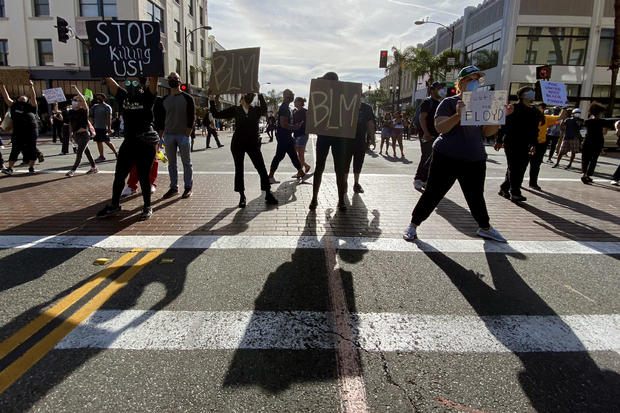 A day of protests in Pasadena.