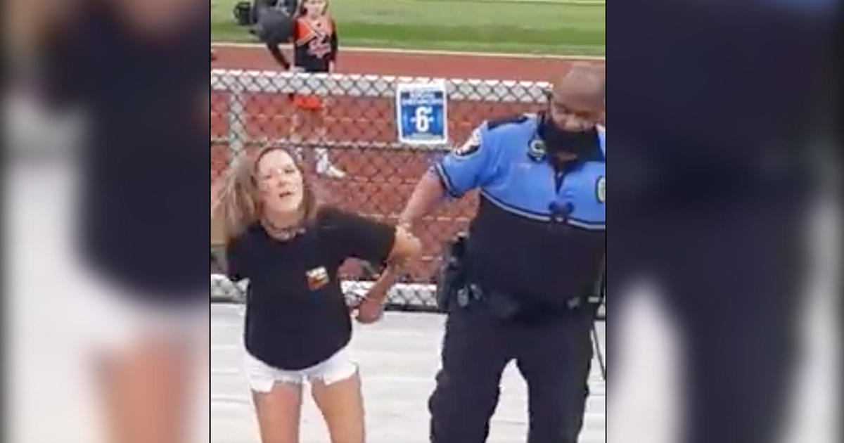 Woman tased and arrested at junior high football game after refusing to wear a mask