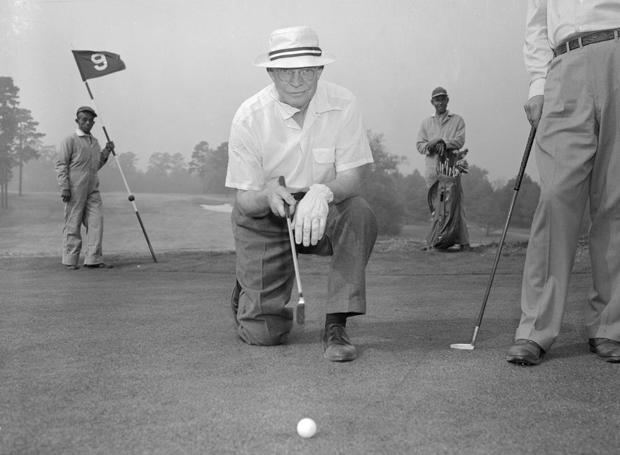 President Eisenhower Playing Golf