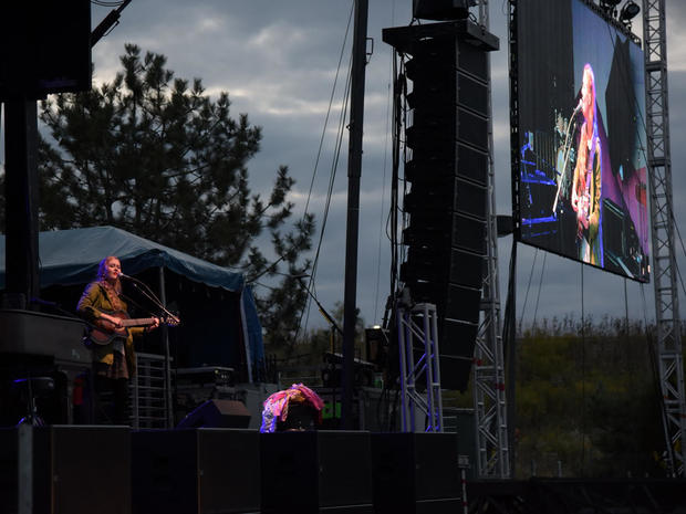"Music fans head to a ""drive-in"""