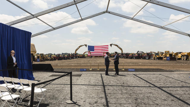 Groundbreaking Of Foxconn Factory In Wisconsin