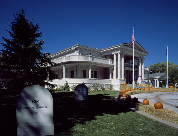 Governor Mansion decorated for Halloween in Carson City, Nevada