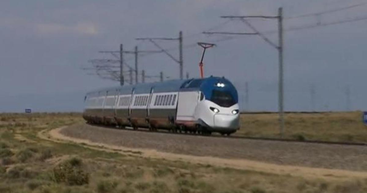 Amtrak tests new faster trains