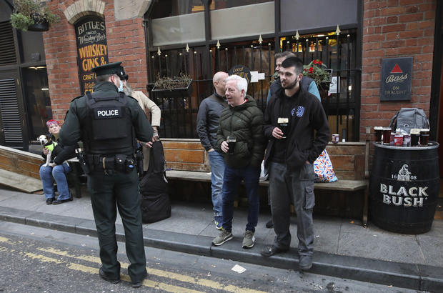 Virus Outbreak Britain Northern Ireland Lockdown