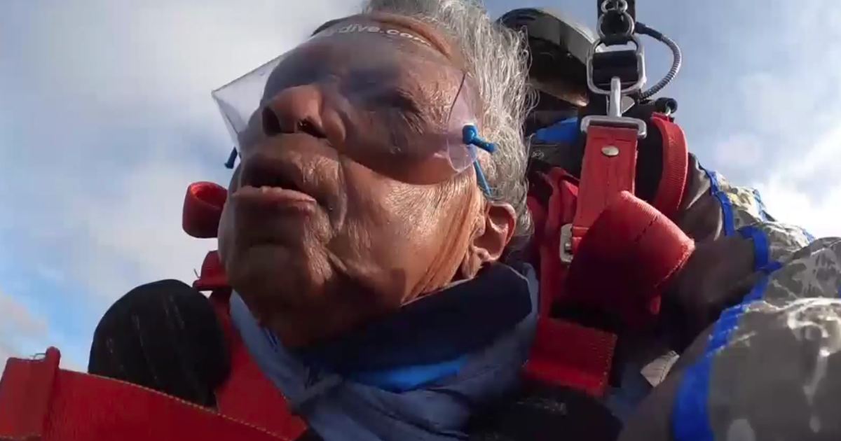 102-year-old World War II veteran checks skydiving off her bucket list