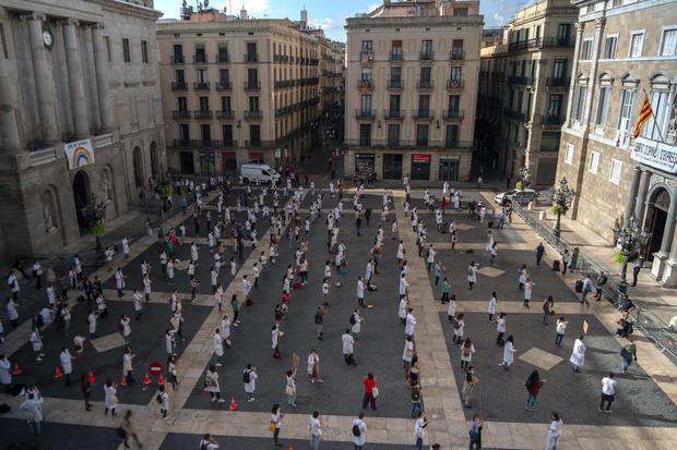 Virus Outbreak Spain One Million