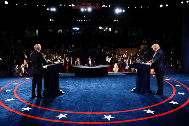 President Trump and Democratic presidential nominee Biden participate in their second debate in Nashville