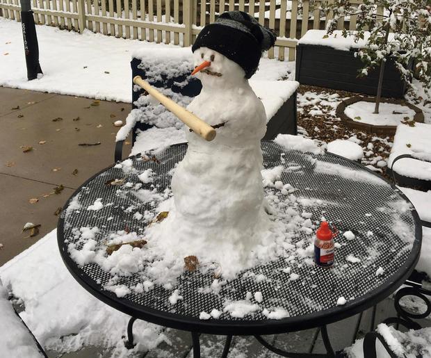 Snowman baseball bat