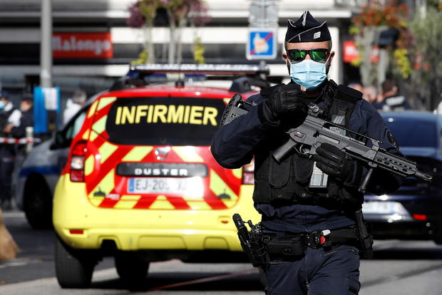 Reported knife attack in French city of Nice