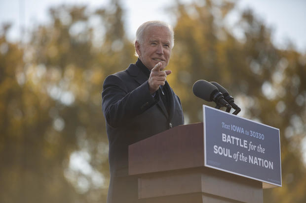 Joe Biden Hosts Drive-In Get Out The Vote Event In Iowa