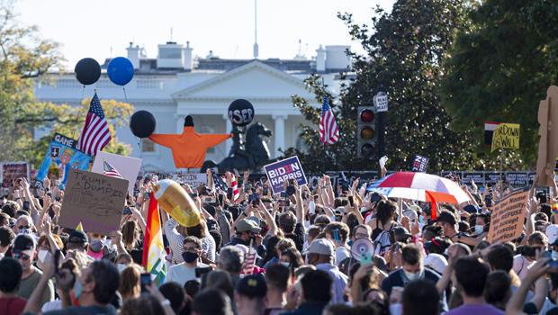 Celebration in Washington over Bidenâs win