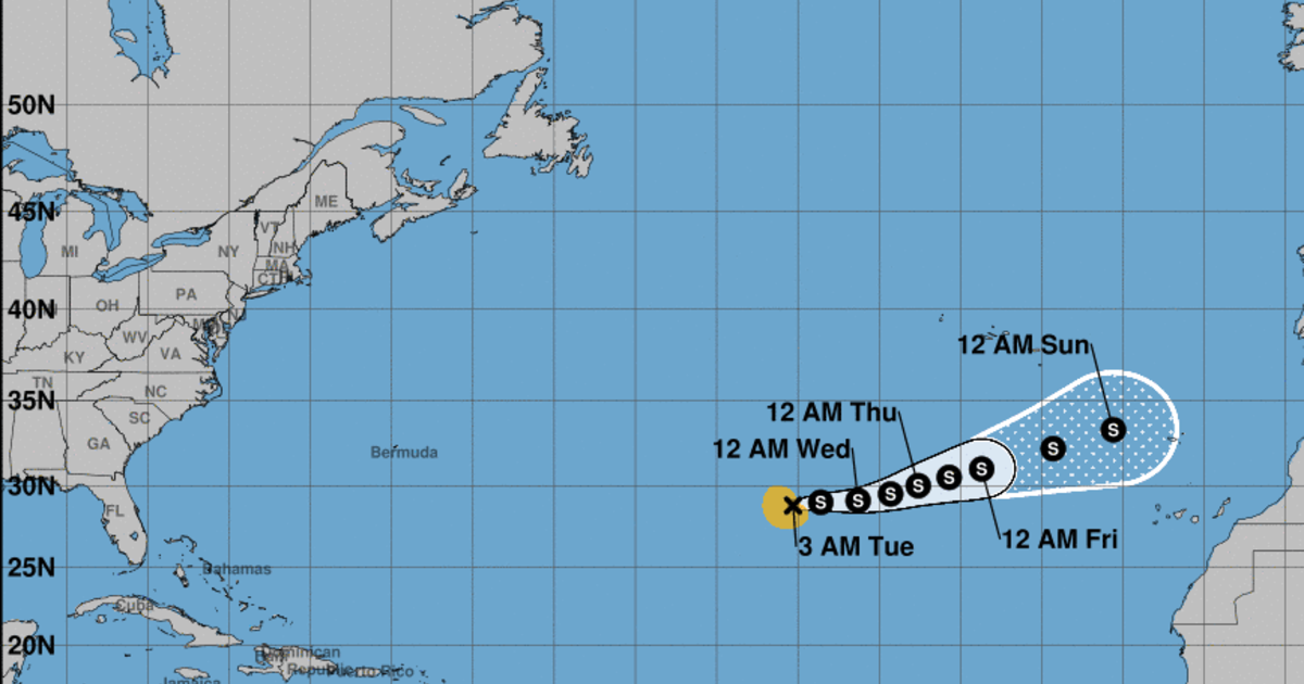 Subtropical Storm Theta forms, breaking record for most named storms in a  season - CBS News