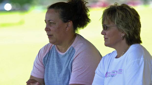 Christy Martin and Lisa Holewyne