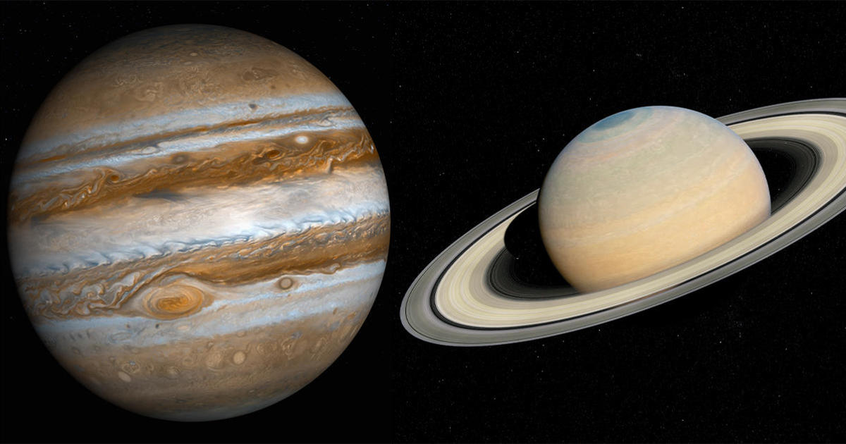 "Jupiter and Saturn will come within 0.1 degrees of each other, forming the first visible ""double planet"" in 800 years"