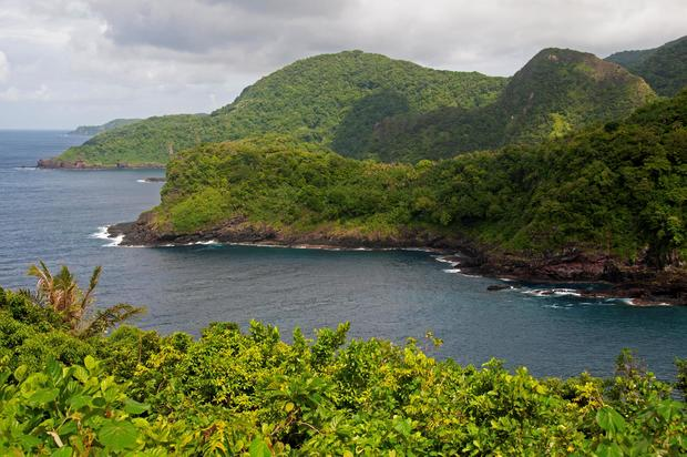 Coastline of Vaiava Natural National Monument in Vatia Bay. Tutuila Island. American Samoa