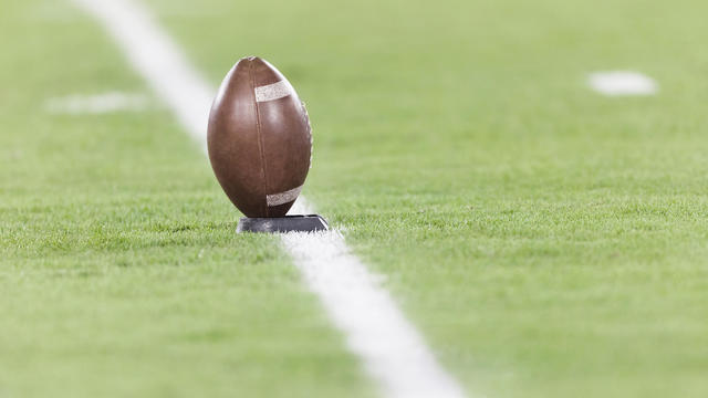 Football on a tee