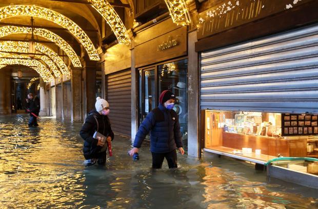 ITALY-WEATHER-FLOODS-VENICE