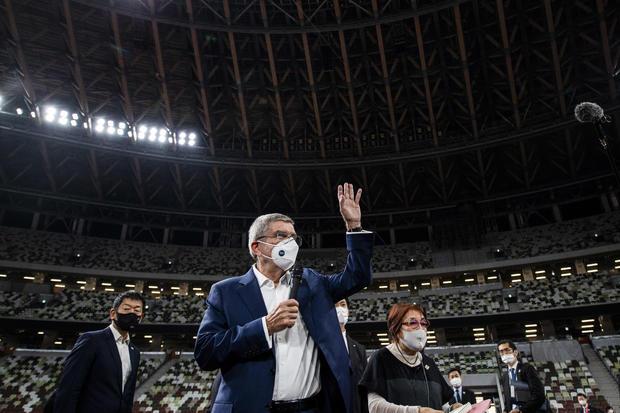 IOC President Thomas Bach Visits Tokyo Olympic Sites