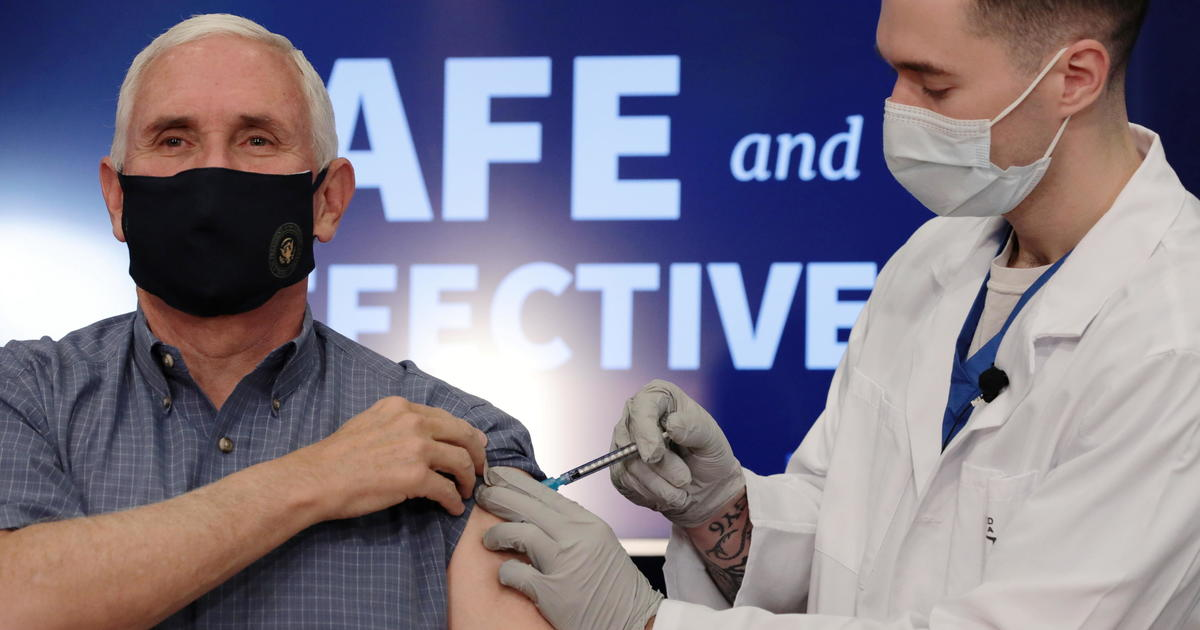 Vice President Mike Pence gets vaccinated on live television