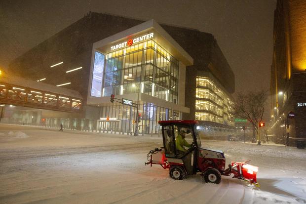 winter storm — Minneapolis